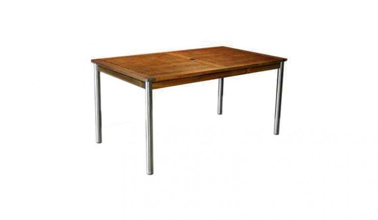 Der Gartentisch Calgary mit einem Maß von 150 x 85 cm