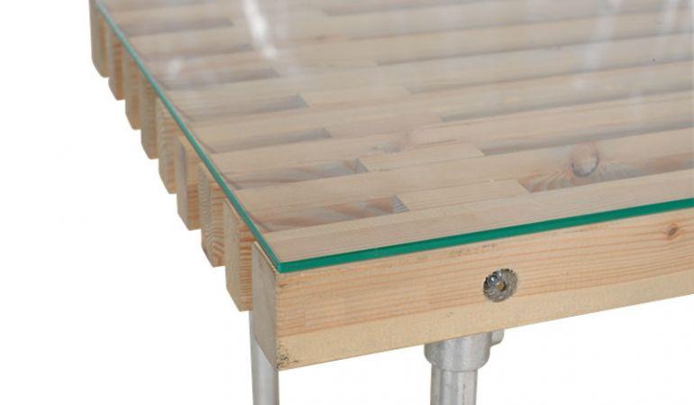 Klare und gehärtete 6 mm Glasplatte für Siesta Gartentische mit polierten Kanten, in 3 verschiedenen Formaten erhältlich