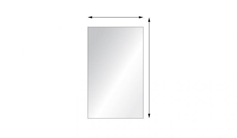 Glas Sichtschutzwände mit individuellen Maßen aus 8 mm ESG, Vollflächendekor, rechteckig
