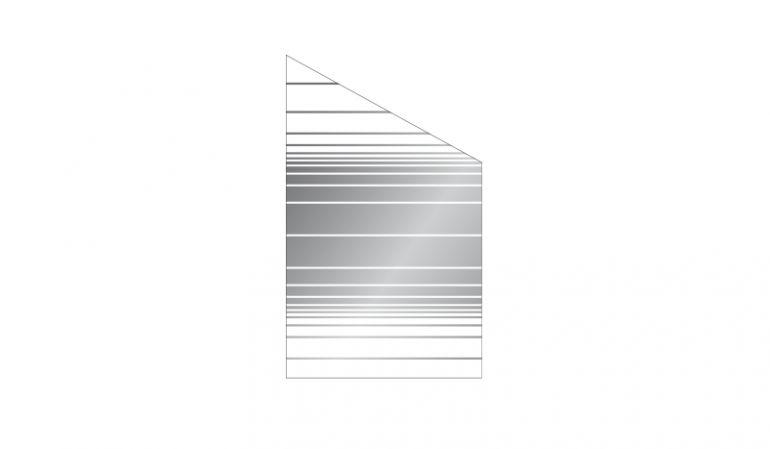 Das Abschlusselement für den Glas Windschutz in den Breiten 103 cm und 120 cm