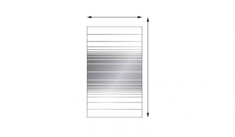 Glaswindschutz aus 8 mm ESG mit individuellen Maßen, Streifendekor, rechteckig