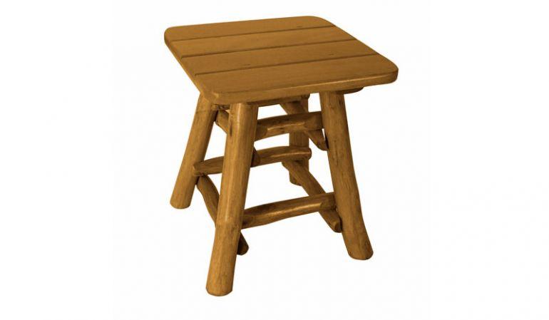 Holz-Hocker aus massiven Holz in Vollrund-Holz-Optik!