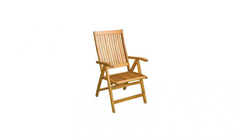 Der Holzsessel Ottawa hat ein Maß von 108 x 59 x 73cm Bestehend aus Robinienholz.