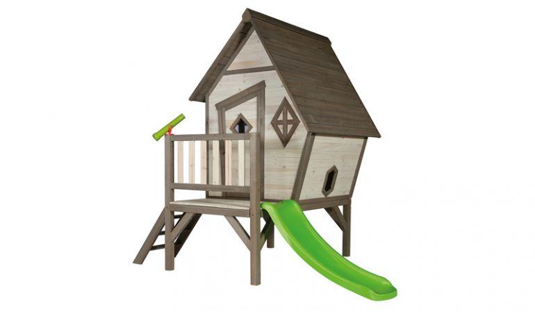 """Kinder Gartenhütte """"Karlotta XL"""" mit erhöhter Veranda; 100% FSC, Maße: 167 x 260 x 215 cm."""