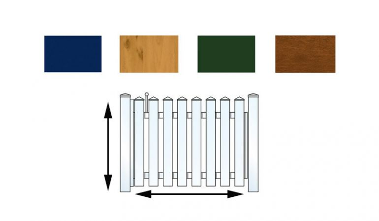 Bestimmen Sie Form und Farbe Ihres Kunststoffgartenzauntores einfach selbst
