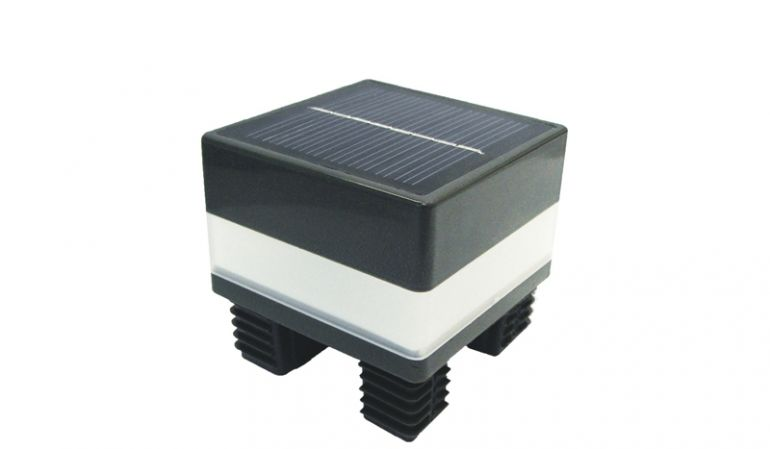 6,8 x 6,8 cm LED Solar Pfostenkappe für den Alupfosten Trent