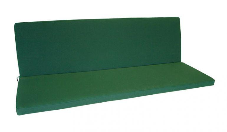 Gartenmöbelauflagen in grün für 3er Gartenbank!