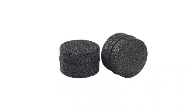 Der Gummi-Adapter verlängert die feuerverzinkten Ø 10 x 36 cm Verbindungsmodule aus Stahl