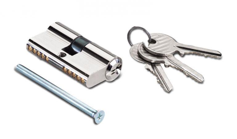 Profilzylinder für Gartentüren oder Doppeltore aus Metall