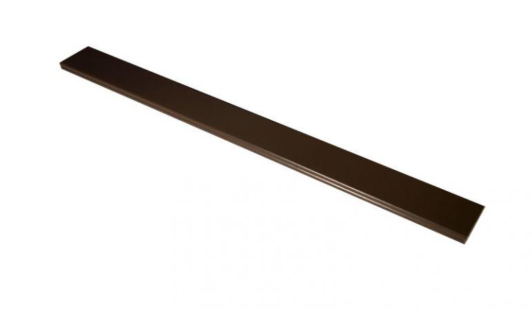 Querriegel Aluminium in Braun. Mit einem Maß von 74 x 22 mm, 180 cm lang.