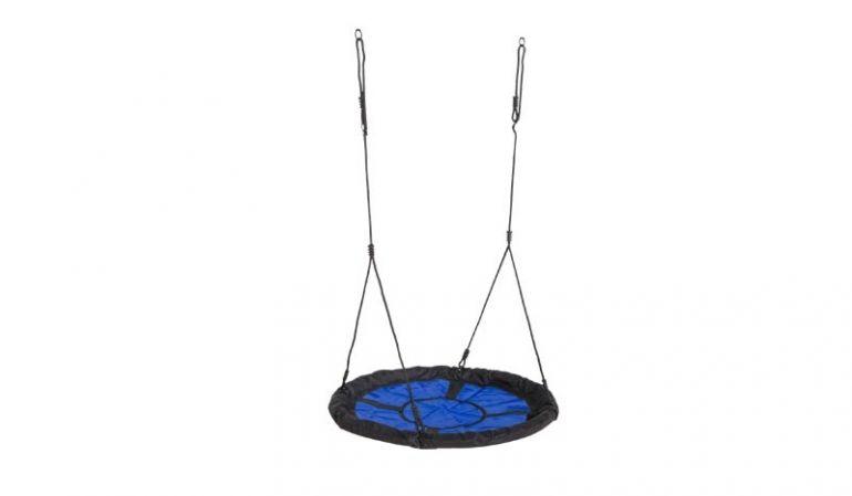 Schwarz-blaues Ø 98 cm Schaukelnest für 2 Personen, belastbar bis 150 kg