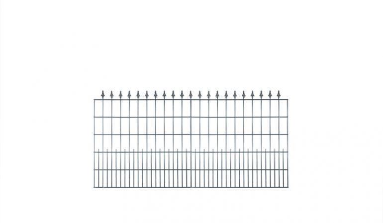 Unser Schmuckzaun Exklusiv mit den Zierspitzen ist der ideale Zaun für den Sichtbereich des Hauses