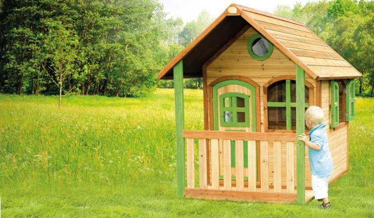 Das Spielhaus aus Holz, TÜV-geprüft und FSC-zertifiziert mit 172 x 118 x 174cm ist der Abenteuerspielplatz und Ihrem Garten