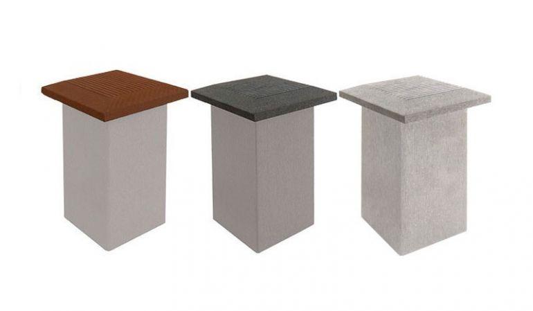WPC Pfostenkappen in anthrazit, braun oder silbergrau passend zu unseren WPC Pfosten