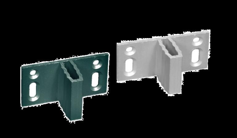 Der WPC Zaunhalter List (8 Stk. aus Edelstahl) passend zu unseren Serien Rantum, Hörnum und Kampen