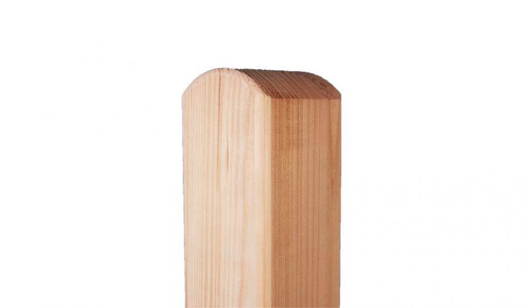 Pfosten aus Douglasie mit Rundkopf in den Maßen 9 x 9 x 1 / 19cm