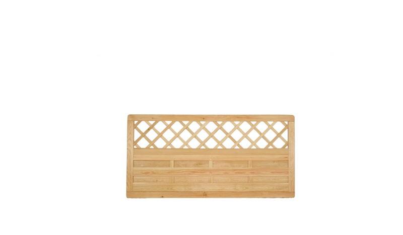 Die 180 x 90 cm Dichtzaun - Zaunelemente aus sibirischer Lärche mit Rankgitter würden auch einen guten Vorgartenzaun abgeben