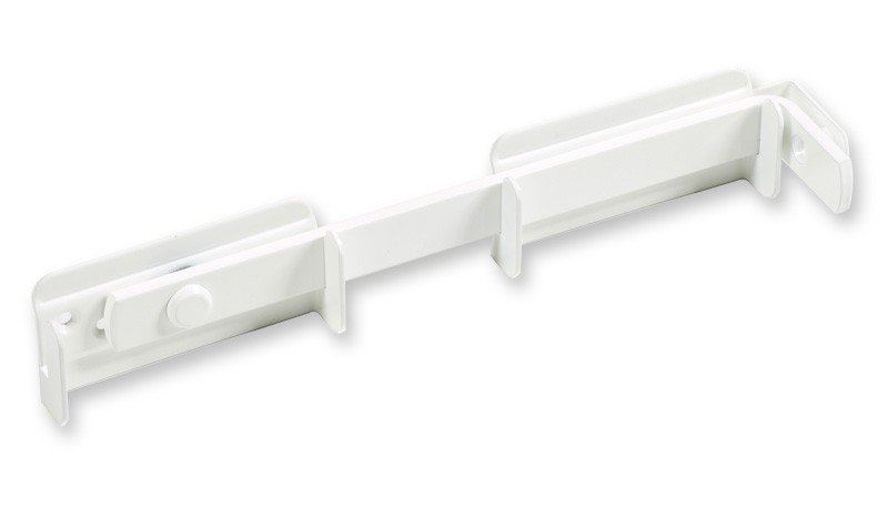 Doppeltor-Überwurfriegel für das Doppeltor der Serie Neuhausen, in weiß.