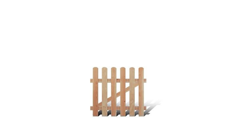 Lärchenzaun Pforte für die Zaunserie Friesland mit 18 x 88 mm starken Zunlatten und einem Maß von 100 x 80 cm