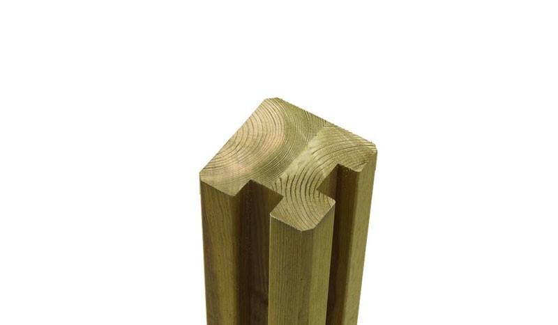 Der passende Eckpfosten für die Steckzaun Serien Klink und Plank mit dem Maß: 9 x 9 x 268 cm.