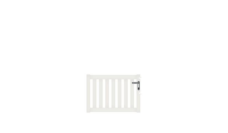 Wetterfestes Einzeltor aus Aluminium, 100 x 70 cm, DIN-R, weiß (RAL 9016), inkl. Torbänder, Schließblech, Schloss mit Profilzylinder und Edelstahl-Drückergarnitur