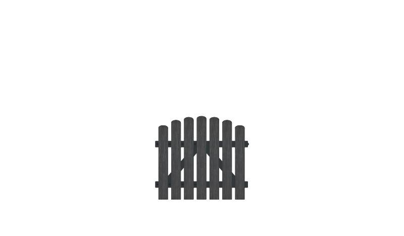 Pflegeleichtes Gartentor Kunststoff mit 10 jahre Garantie auf UV-Beständigkeit. 100 x 80 auf 90 cm, anthrazit (RAL 7016),  DIN-R, inkl. verstellbare Edelstahlbeschläge
