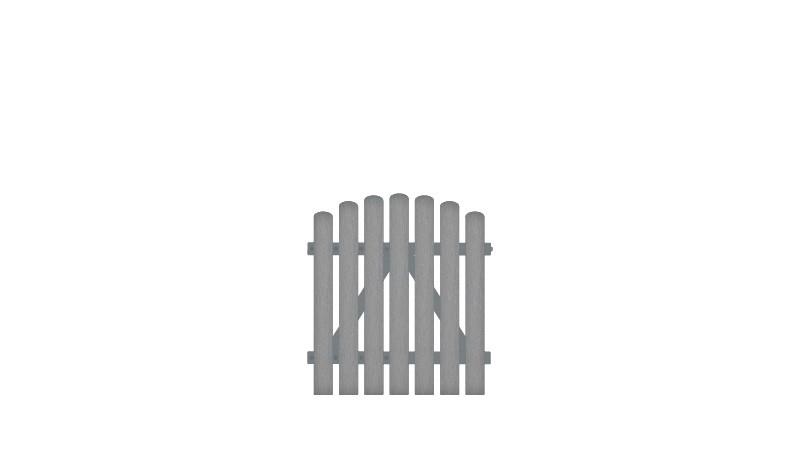 Wetterfestes EInzeltor aus Vollkunstofflatten und mit Aluminiumrahmen, DIN-R, inkl. verstellbare Edelstahlbeschläge (6mm starke Ladenbänder vormontiert) und Überwurf