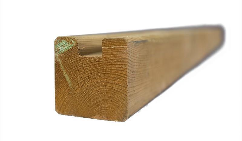 Endpfosten als eleganter Abschluss für den Lärmschutzzaun mit einer Länge von 210 cm und Kantenlängen von 9 cm