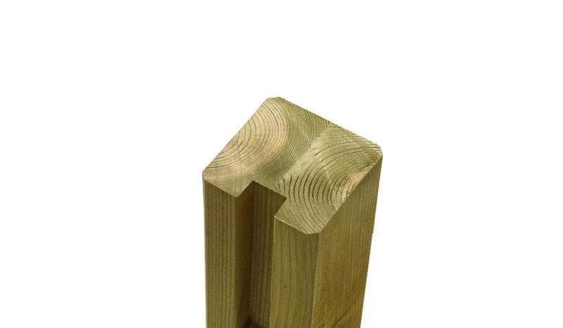 Die passenden Tor- und Abschlusspfosten zu den Steckzaunsystem Serien Klink und Plank mit dem Maßen: 9 x 9 x 268 cm.