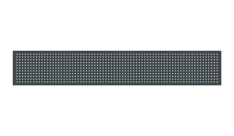 Einsatz für Eno-Aluminiumzäune in kariertem Design. Farbe: Anthrazit (RAL 7016)