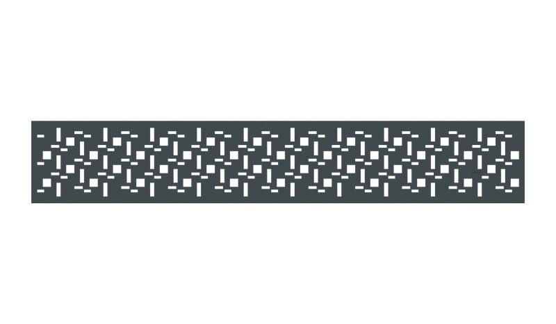 Moderne Zwischenleiste in Anthrazit. Maß: 3 x 176 cm, aus rostfreiem Aluminium