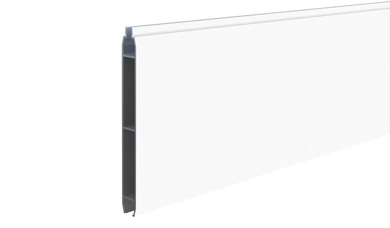 Profilbrett für das Eno-Steckzaunsystem aus pflegeleichtem Aluminium in Weiß (RAL 9016)