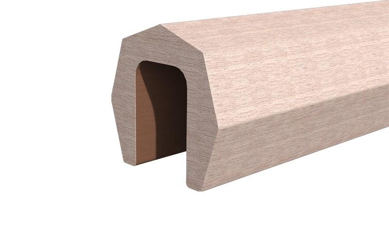 Abdeckleiste zum Schutz der Eno-Zaunelemente. Resysta, 1,7 x 1,7 x 176 cm