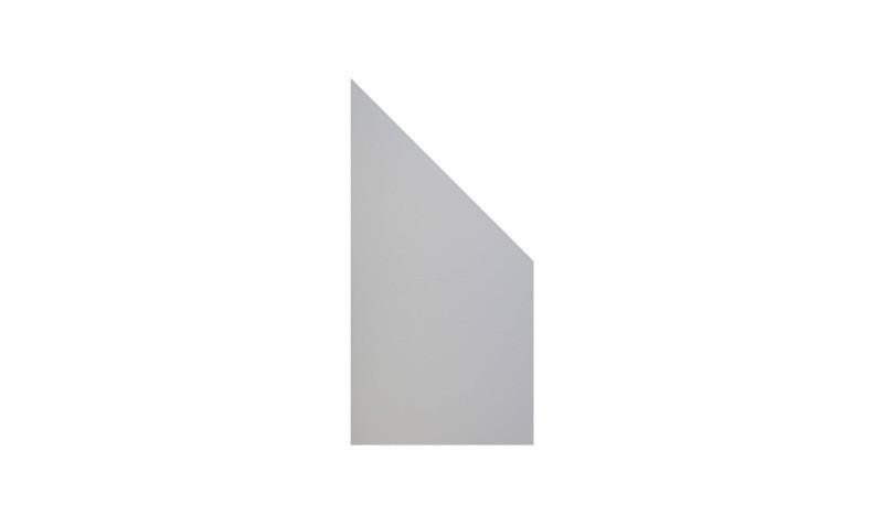 Der HPL Zaun Farum 3 ist ein Abschlusselement. Das Maß ist 90 x 180/90 x 0,8. Die Farbe ist Grau. HPL ist ein neuer und innovativer Baustoff für Gärten.