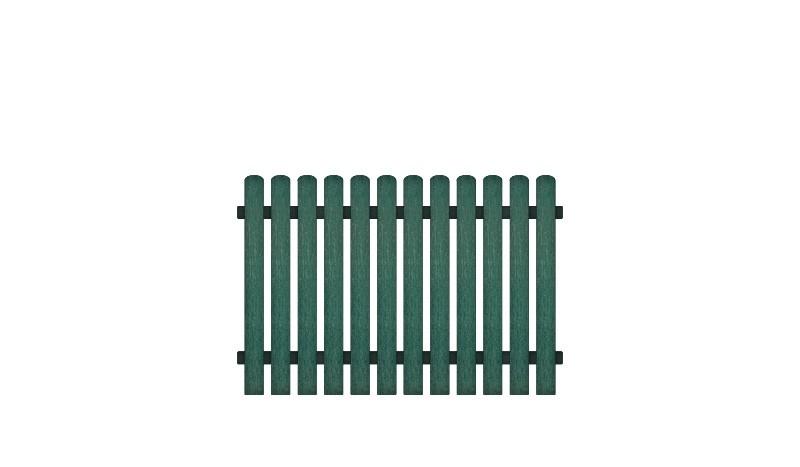 Pflegeleichte Kunststoff Gartenzäune bestehend aus Vollkunstofflatten und Aluminiumquerriegel, Edelstahl verschraubt, inkl. Montageset und Bohrer
