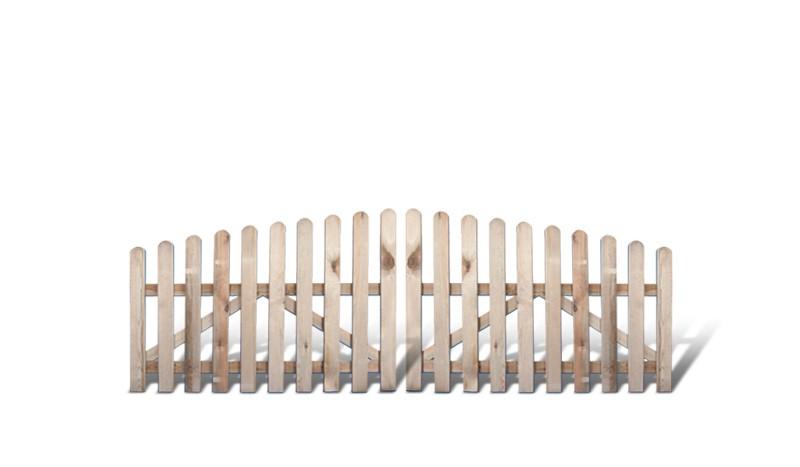 Schönes Friesenzaun Gartentor aus druckimprägniertem Holz