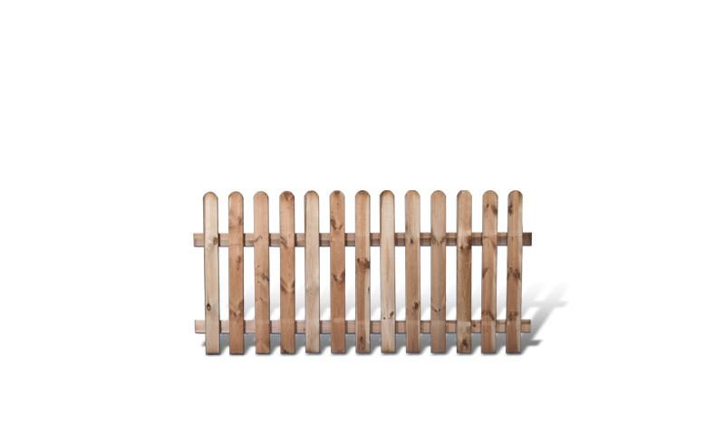 Friesenzaun aus druckimprägnierter Kiefer/Fichte. 200x100cm. Riegelstärke: ca. 28 x 70 mm