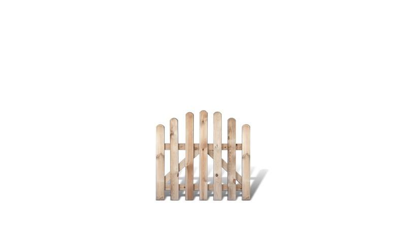 Gartenpforte mit Bogen aus druckimprägnierter Kiefer/Fichte. 100x95/80cm. Riegelstärke: ca. 28 x 70 mm