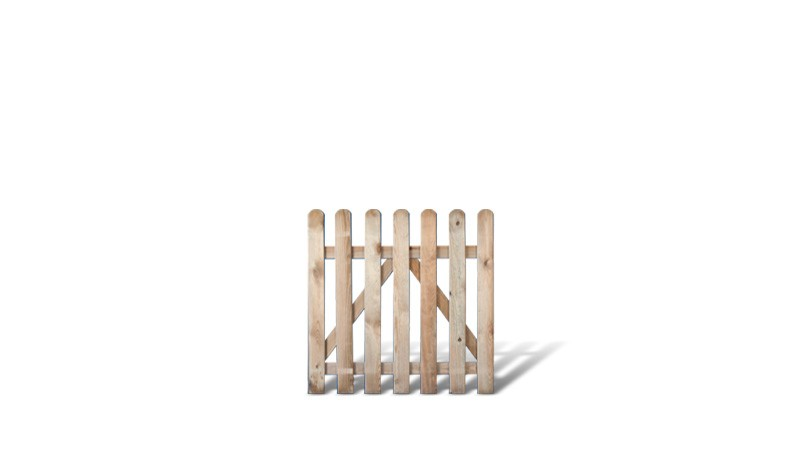 Gartenpforte aus druckimprägnierter Kiefer/Fichte. 100 x 100cm. Riegelstärke: ca. 28 x 70 mm