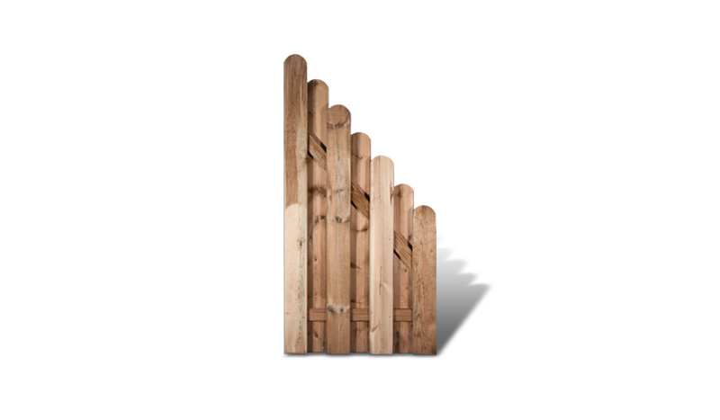 Ein dekorativer Zaunabschluß aus der Serie Frankfurt mit den Maßen: 90x 180 x 90cm