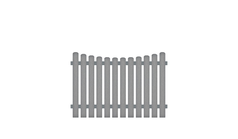 Gartenzäune mit 10 Jahren Garantie, 180 x 120 auf 110 cm, grau (RAL 7056), Edelstahl verschraubt, inkl. Montageset und Bohrer