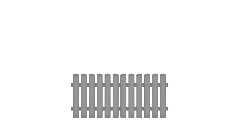 Pflegeleichte Gartenzäune aus Vollkunstofflatten und Aluminiumquerriegel, 180 x 80 cm, grau (RAL 7056), Edelstahl verschraubt, inkl. Montageset und Bohrer