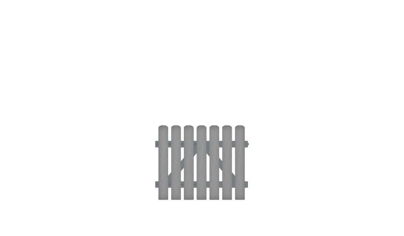 Pflegeleichte Gartentor aus Vollkunstofflatten und mit Aluminiumrahmen, DIN-R, inkl. verstellbare Edelstahlbeschläge (6mm starke Ladenbänder vormontiert) und Überwurf