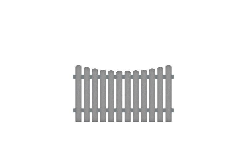 Pflegeleichte Gartenzäune bestehend aus Vollkunstofflatten und Aluminiumquerriegel, inkl. Montageset und Bohrer