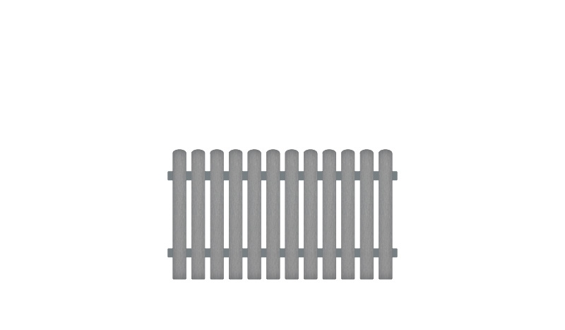Wetterfeste Gartenzäune aus Kunststoff, 180 x 100 cm, grau (RAL 7056), Edelstahl verschraubt, inkl. Montageset und Bohrer