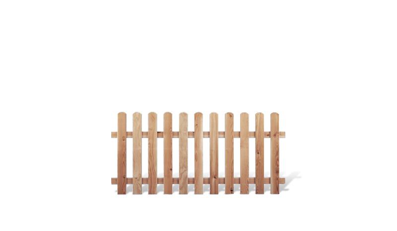 Der Friesland Zaaun aus hochwertigem Lärchenholz hat 24 x 68 mm Zaunlatten und ein Maß von 180 x 80 cm