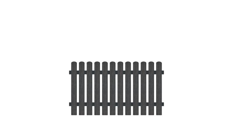 Wetterfesterr Gartenzaun Kunststoff mit 10 Jahre Garantie auf UV-Beständigkeit. 80 x 100 cm, anthrazit (RAL 7016), Edelstahl verschraubt, inkl. Montageset und Bohrer