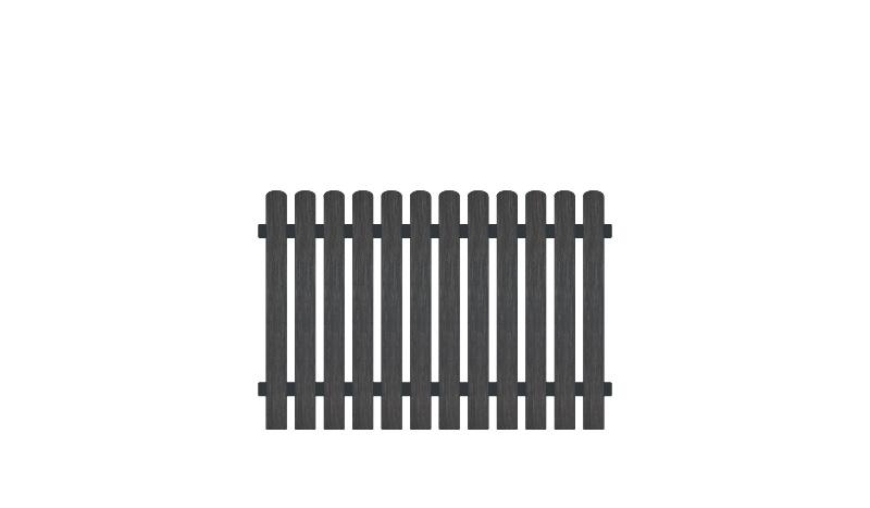 Wetterfester Gartenzaun aus Vollkunstofflatten und Aluminiumquerriegel, 180 x 120 cm, anthrazit (RAL 7016), Edelstahl verschraubt, inkl. Montageset und Bohrer