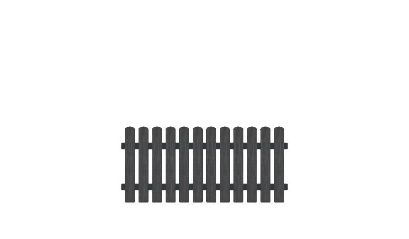 Pflegeleichter Gartenzaun Kunststoff aus Vollkunstofflatten und Aluminiumquerriegel, 180 x 80 cm, anthrazit (RAL 7016)