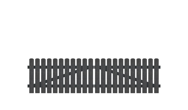 Kunststoff Doppeltor mit 10 jahren Garantie. Inkl. verstellbare Edelstahlbeschläge (6mm starke Ladenbänder vormontiert), Überwurf, Bodenriegel, Metallhülsen und Arretierung